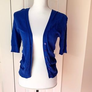 Cobalt Blue Short Sleeve Sweater